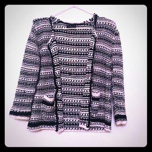 Topshop Knit Cardigan Sweater Blazer